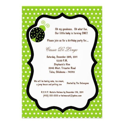 5x7 a festa de aniversário verde elétrica da senho convite
