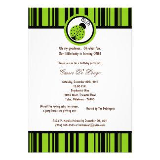 5x7 a festa de aniversário verde elétrica da senho convites personalizados