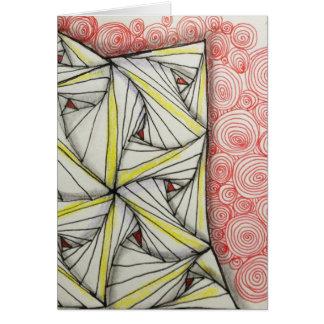 5x7 cartão lustroso vazio - arte original