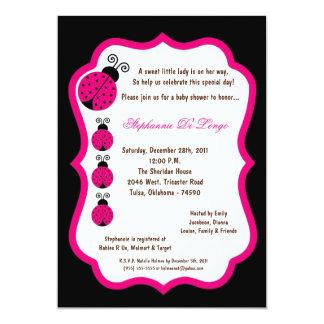 5x7 chá de fraldas preto da senhora Desinsetar Convites Personalizado