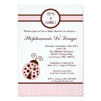 5x7 convite feminino do chá de fraldas da senhora