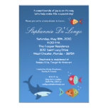 5x7 sob o convite do chá de fraldas de SharkFish Convite 12.7 X 17.78cm