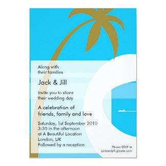 5x7 tropical moderno convite 12.7 x 17.78cm