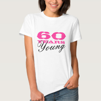 60 anos de camiseta nova para 60th mulheres do