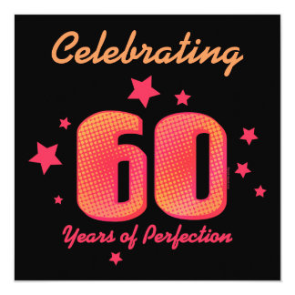 60 anos de convite feito sob encomenda do
