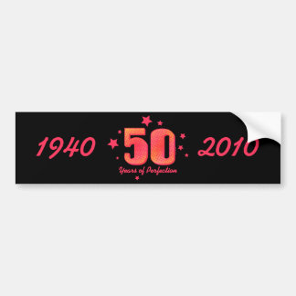 60 anos de envoltório da garrafa de água da perfei adesivo para carro