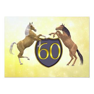 60 anos de festa de aniversário idosa que eleva convite 12.7 x 17.78cm