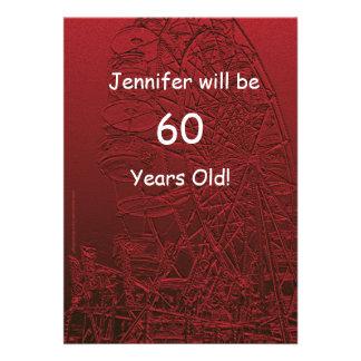 60 anos de roda de Ferris frente e verso da festa