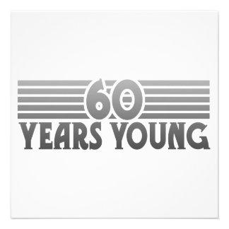 60 anos novo convite personalizados