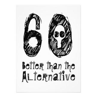 60 melhor do que o aniversário engraçado Q05 do Convites Personalizados