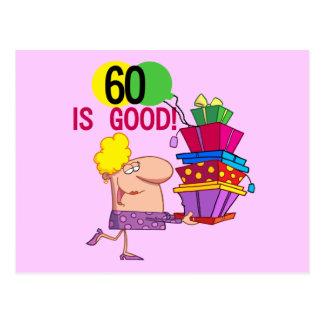 60 são bons camiseta e presentes do aniversário cartão postal