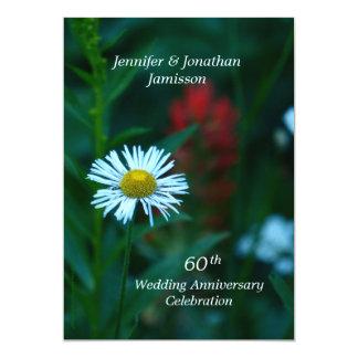 60th A festa de aniversário do casamento convida a Convite 12.7 X 17.78cm