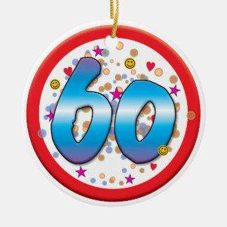 60th Aniversário Ornamento De Cerâmica Redondo