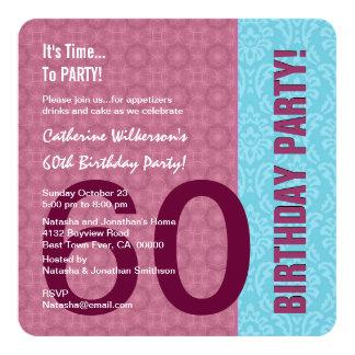 60th Aniversário para seu teste padrão moderno C60 Convite