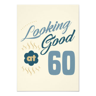 60th aniversário que olha bom convite 12.7 x 17.78cm