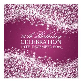 60th baga elegante da onda Sparkling da festa de Convites Personalizados