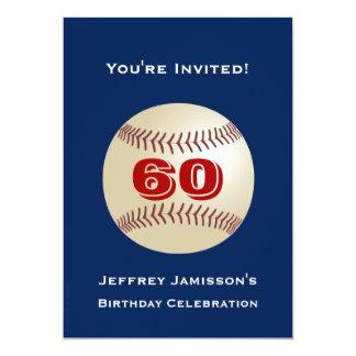 60th Basebol do convite de aniversário