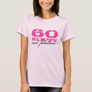 60th Camisa   60 do aniversário e fabuloso!