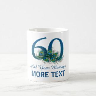 60th caneca elegante personalizada do aniversário