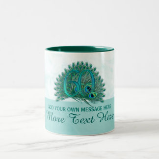 60th caneca elegante personalizada do texto do