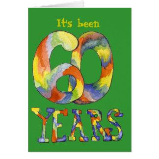 60th Cartão de aniversário