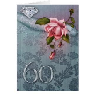 60th Cartão do aniversário de casamento