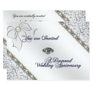 60th Cartão do convite do aniversário de casamento