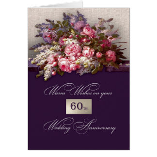 60th Cartões do aniversário de casamento