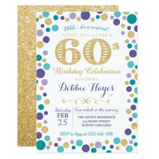 60th Convite de aniversário da surpresa