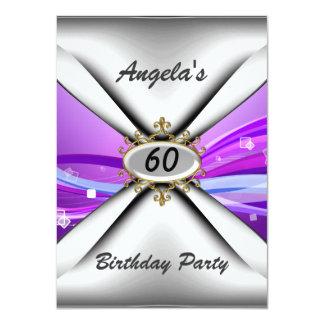 60th convite de aniversário sessenta