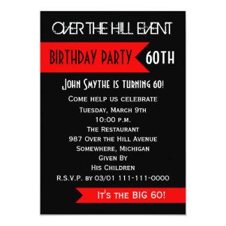 60th Convite de aniversário sobre o monte