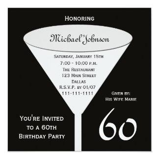 60th Convite de aniversário um brinde para 60