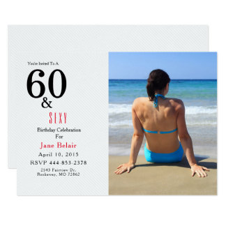 60th Convite do aniversário