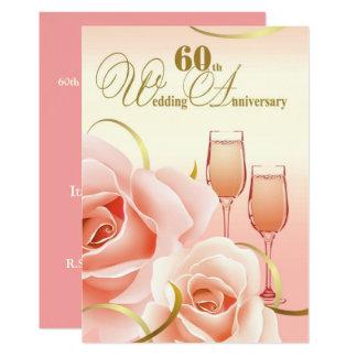 60th Convites da festa de aniversário do casamento