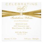 60th convites de festas de aniversários elegantes