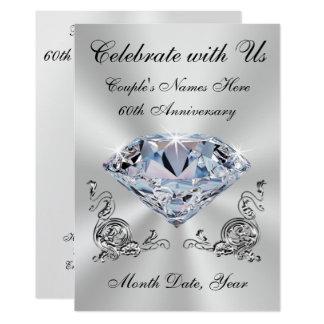60th convites personalizados do aniversário de