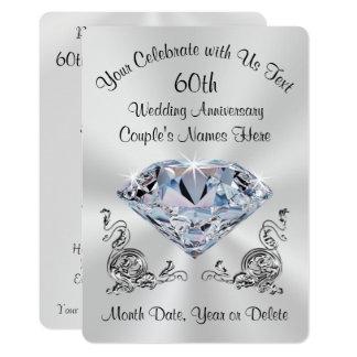 60th convites personalizados impressionantes do