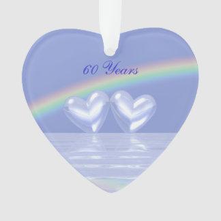 60th Corações do diamante do aniversário