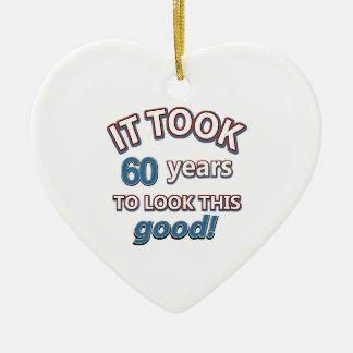 60th design do aniversário do ano enfeite