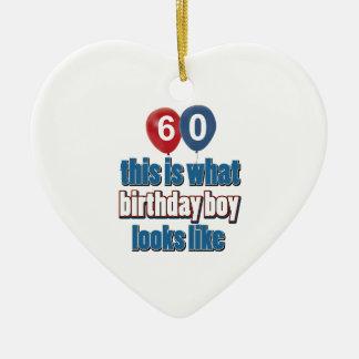 60th design do aniversário dos anos de idade enfeite para arvore de natal