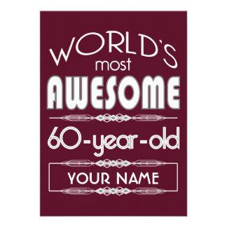60th Do aniversário dos mundos obscuridade Convite