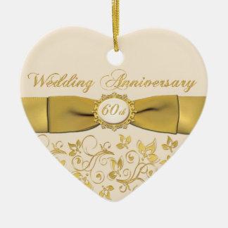60th Enfeites de natal do aniversário de casamento
