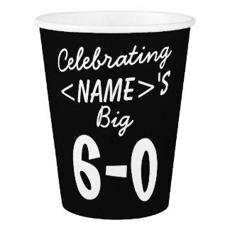 60th fonte personalizada do partido dos copos de