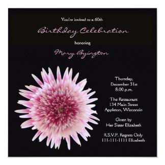 60th Gerbera lindo do convite de aniversário