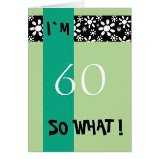 60th Inspirador engraçado do aniversário Cartão