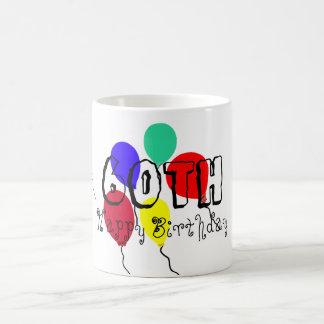 60th O aniversário Balloons canecas do marco