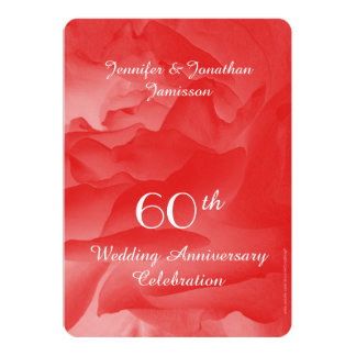 60th O convite da festa de aniversário do Convite 12.7 X 17.78cm