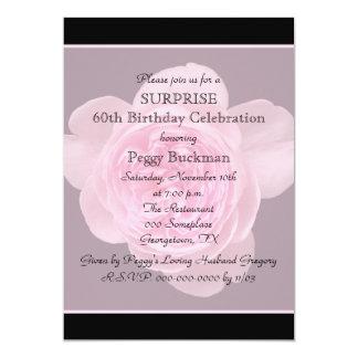 60th O convite de aniversário da surpresa aumentou