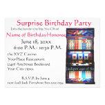 60th Slot machine do casino da festa de aniversári Convite Personalizado