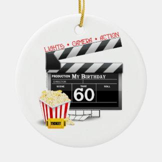 60th Tema do filme do aniversário Ornamento